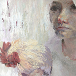Sarah Spencer - Amalie and Wilfred - 2013 - 40 x 50cm - Oil on canvas